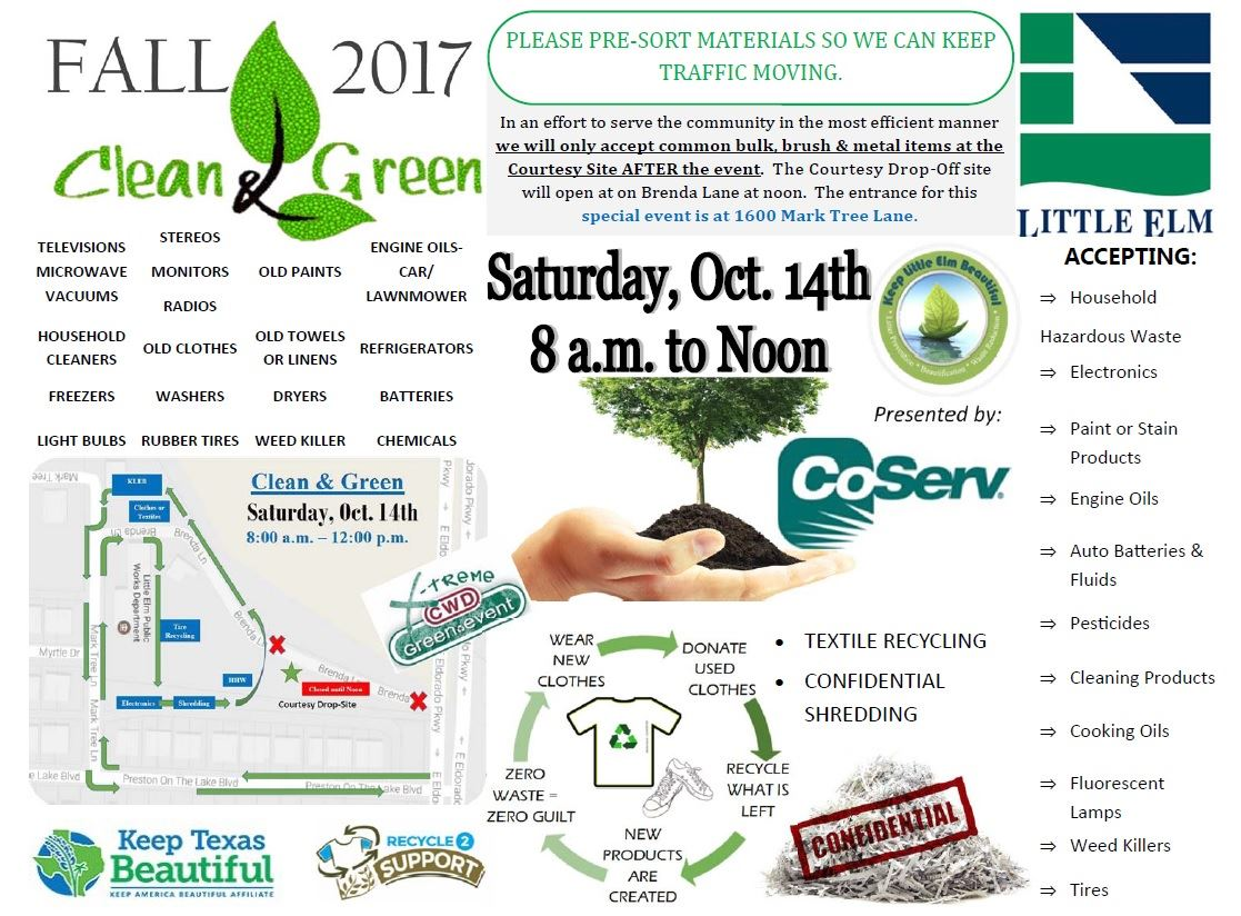 Fall Clean and Green Flyer Hazardous Waste Collection