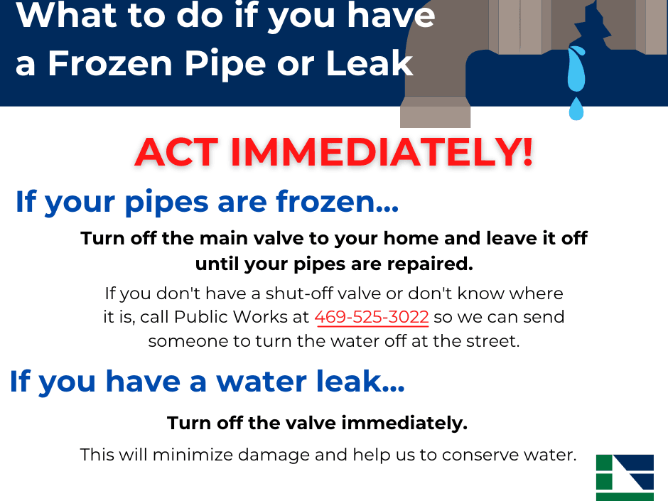What to do if you have a Frozen Pipe or Leak